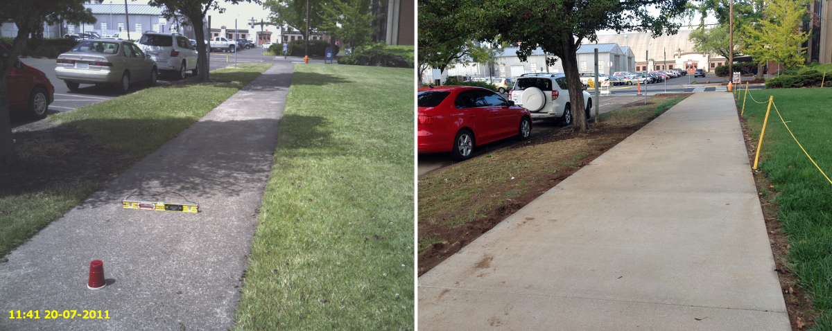 Sidewalk from Tebeau Before/After