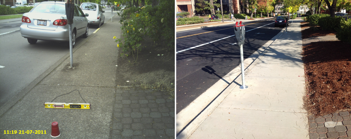 15th Meter Parking and Sidewalk Before/After