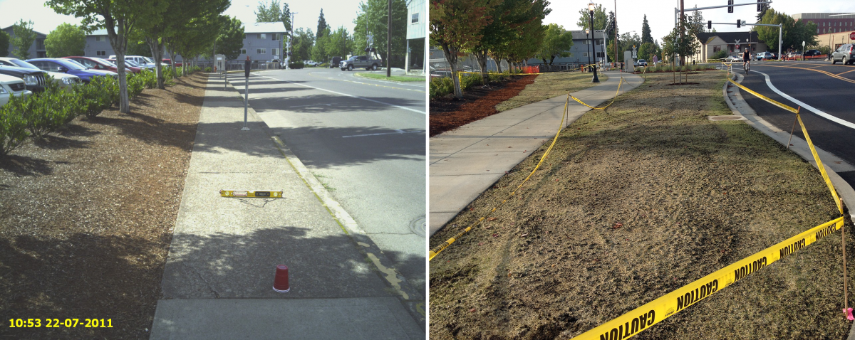 15th and Wash Way East Side Before/After