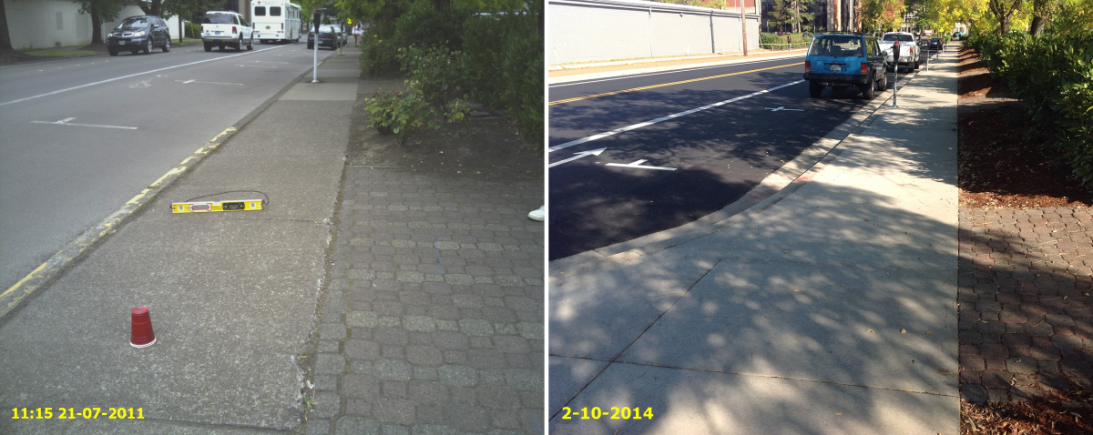 15th East Sidewalk Looking North Before/After