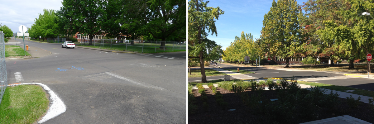 30th and Campus Way Before/After