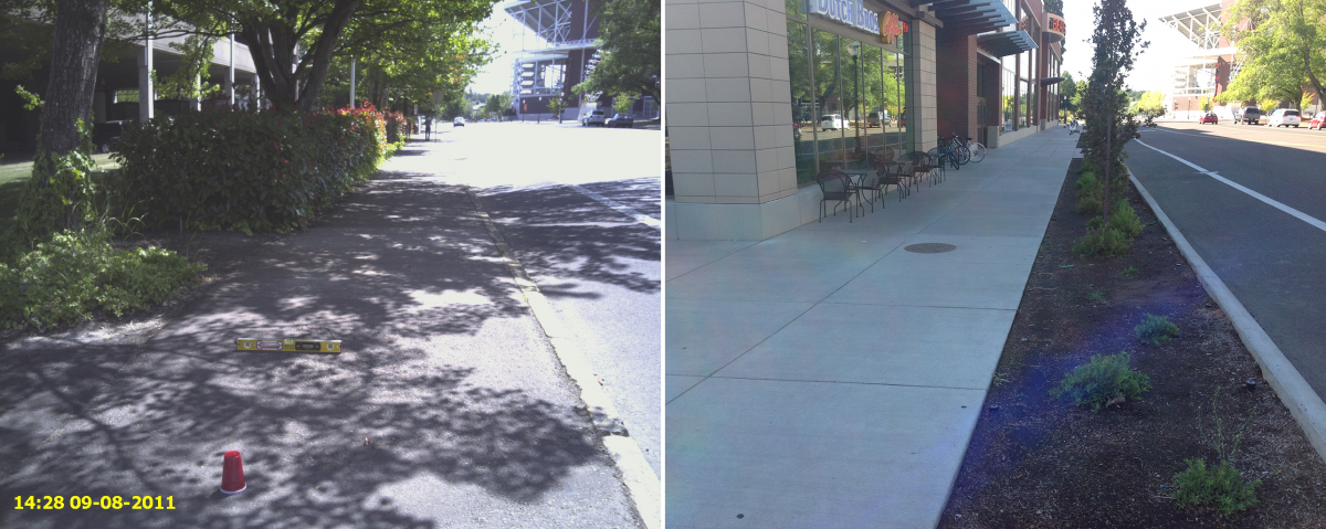 26th Sidewalks Before/After