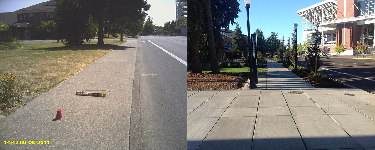 CCCC 26th Sidewalks Before/After