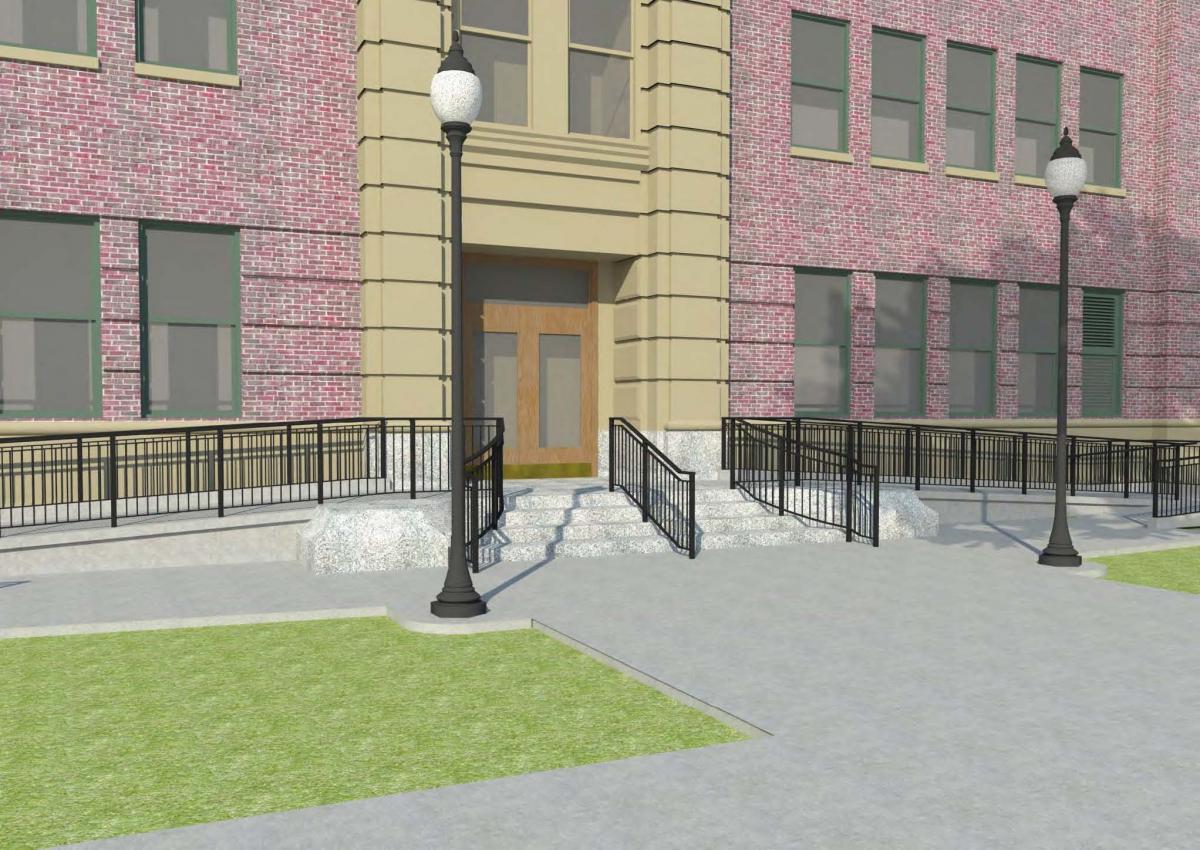 Dryden East Entrance Plan