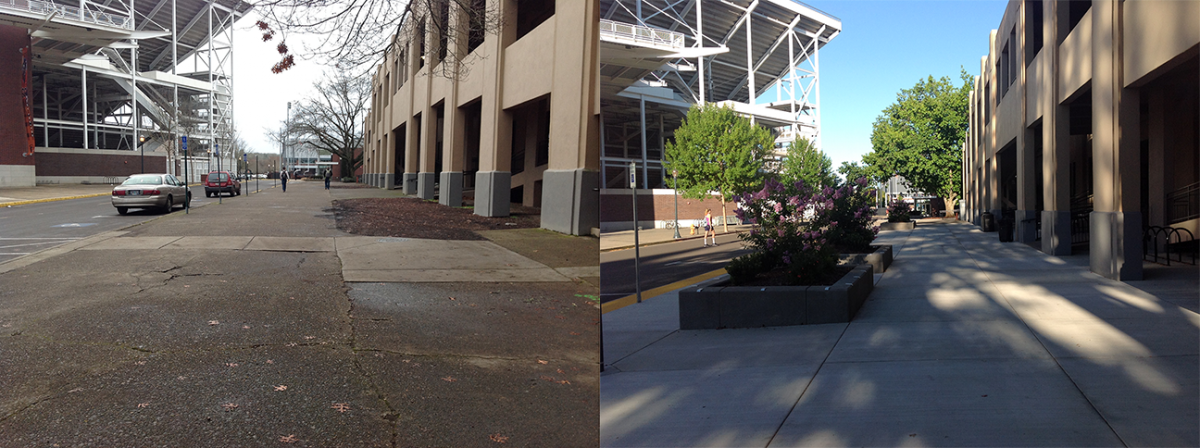 Gill South Sidewalks Before/After