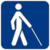 symbol for someone who is blind