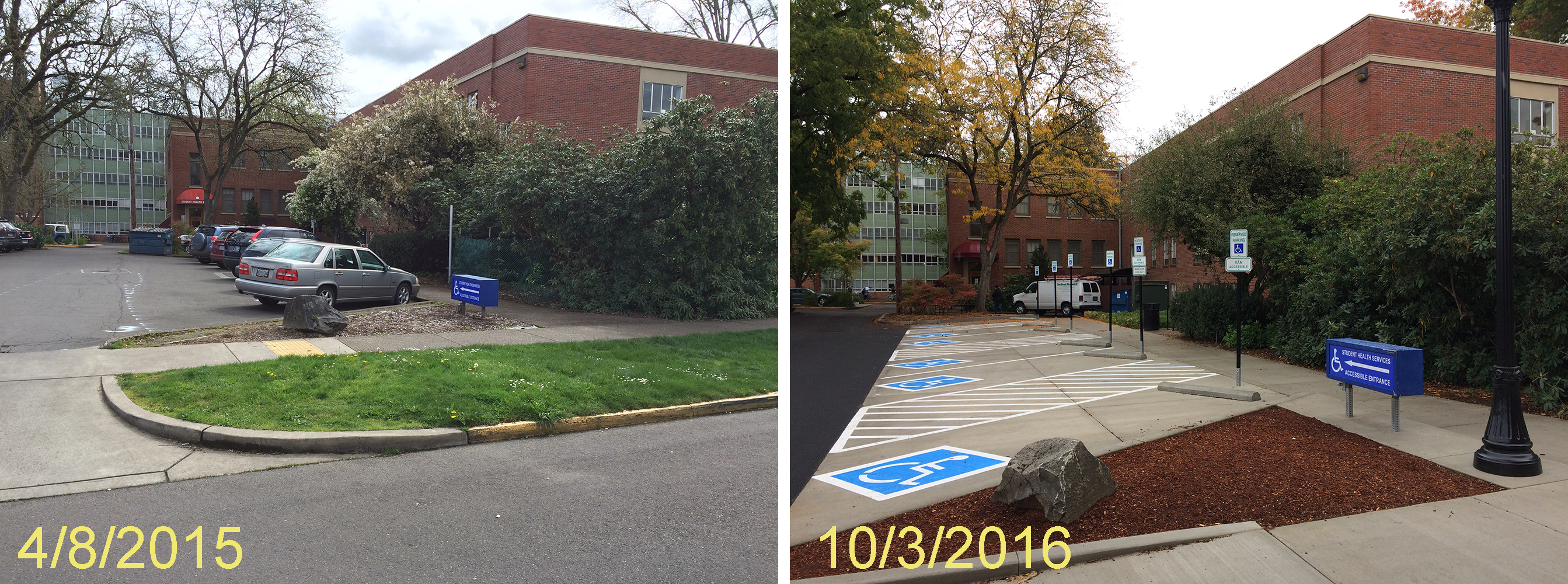 Johnson Hall Plageman parking comparison