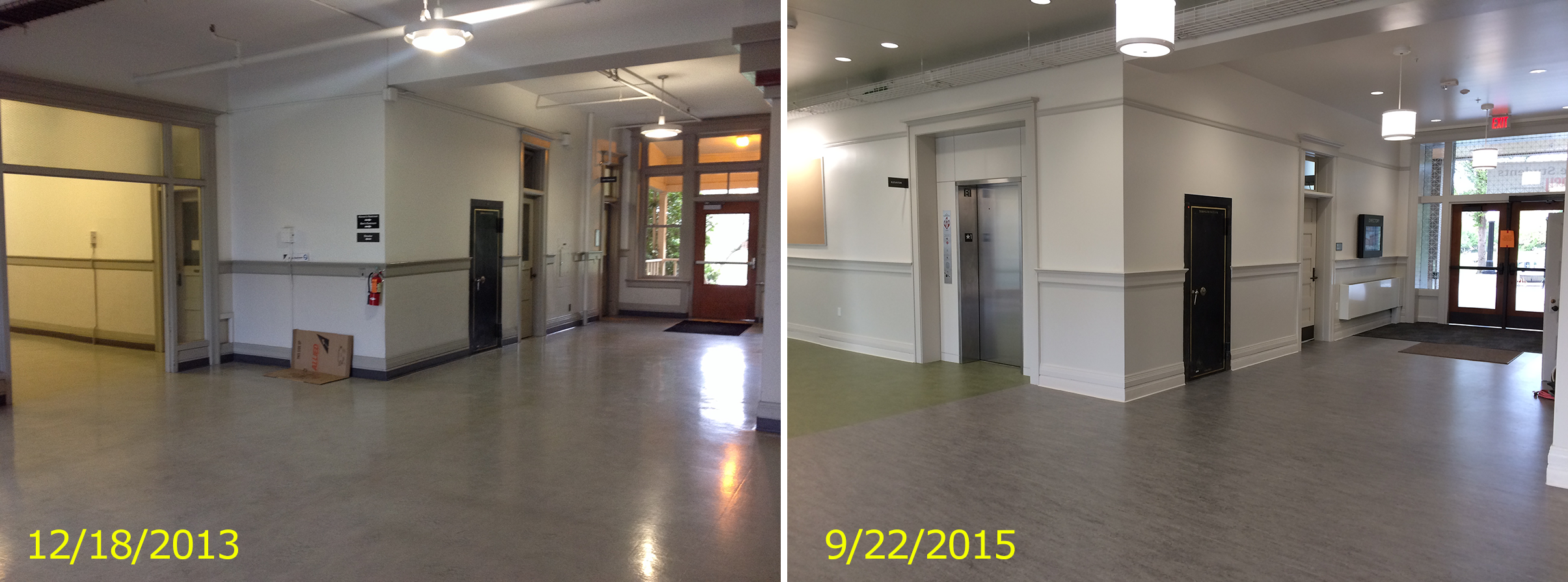 New elevator access to the fourth floor while maintaining the historic vault doors
