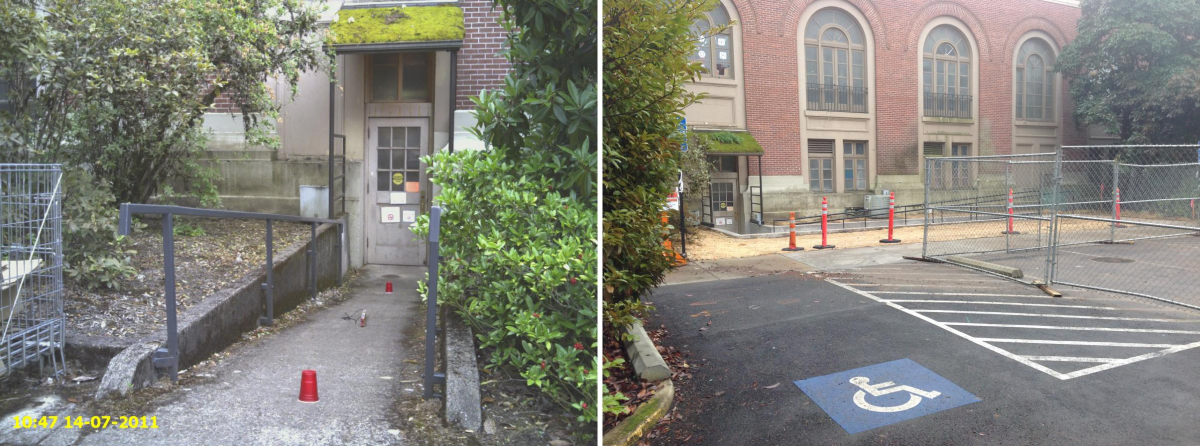 Women's Building North Ramp Before/After